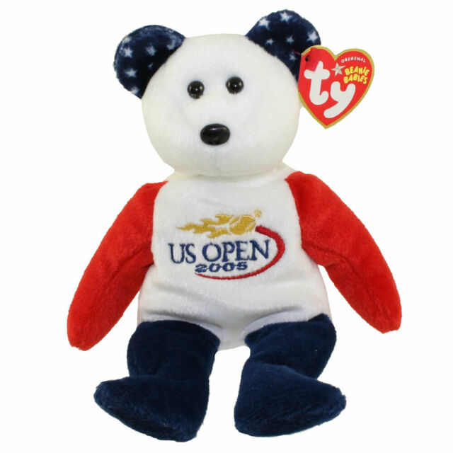 Ty Beanie Baby ~ SMASH the US OPEN Tennis Bear 9 Inch NEW MWMT