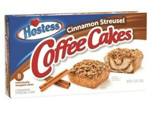 2 Boxes of NEW Hostess Cinnamon Streusel Coffee Cakes 16 ...