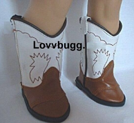 Red Western Cowboy Cowgirl Boots for American Girl 18 inch Doll Shoes LOVVBUGG!