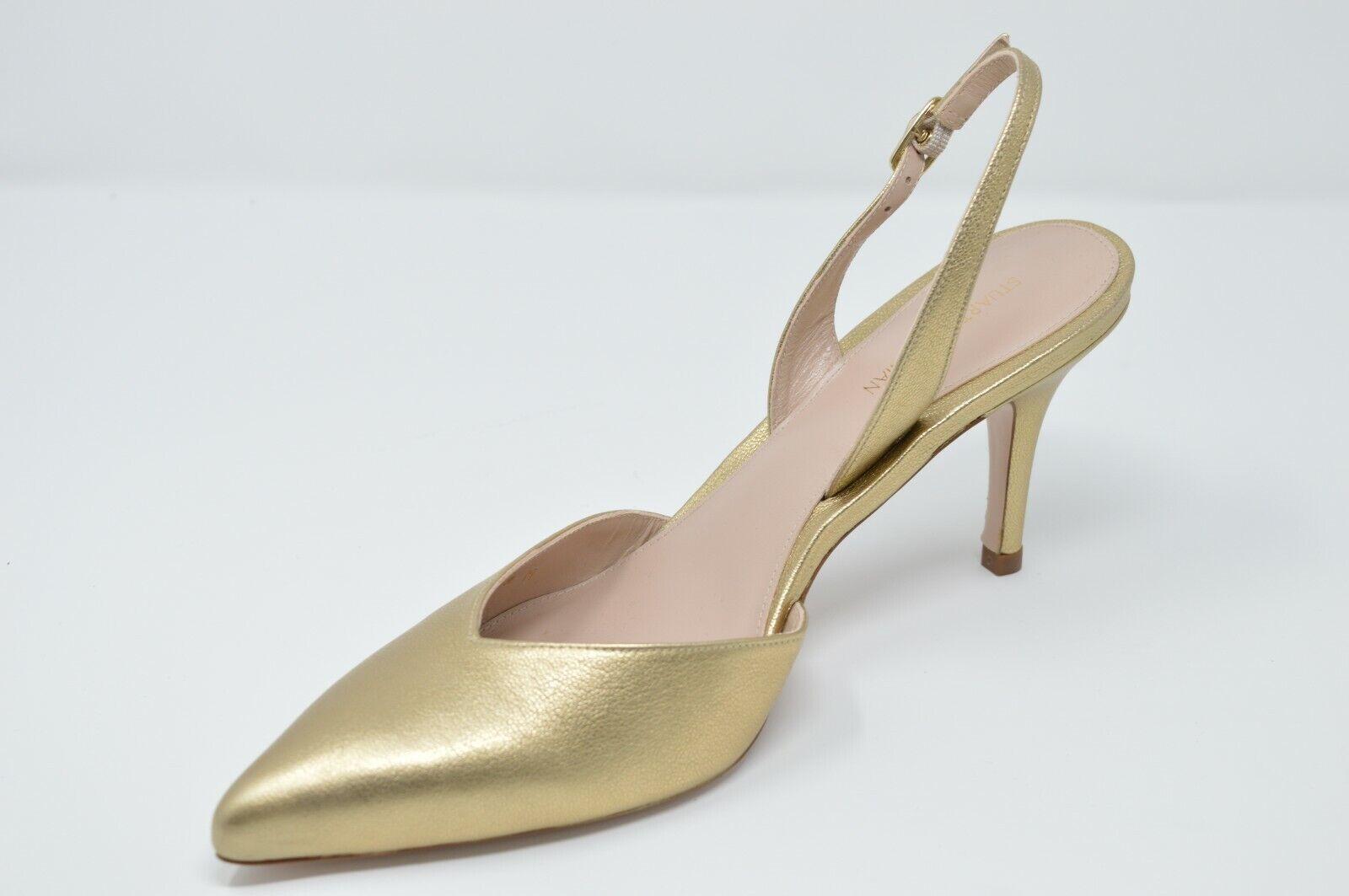 prendiamo i clienti come nostro dio Stuart Weitzman Weitzman Weitzman donna SLEEK Slingback Pumps Heels oro, Dimensione 8  vendite online