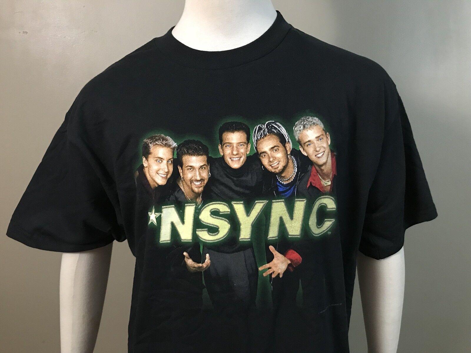 NEW VTG 1998 NSYNC BAND CONCERT TOUR SHIRT Sz L DOUBLE SIDED JUSTIN TIMBERLAKE
