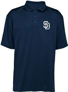 San diego padres mlb majestic dri fit navy polo golf shirt for Polo shirts tall sizes