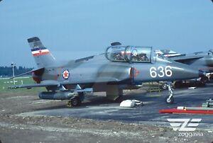 ORIGINALE-SLIDE-23636-SOKO-G-4-GALEB-Iugoslava-Air-Force-1986