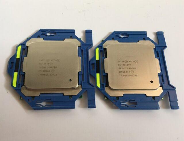 1x Intel Xeon e5-2640 v4 sr2nz (10 coeurs | 2.4ghz | 25 Mo cache | 2400 MHz)