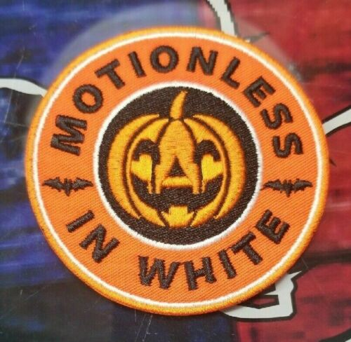 EMBROIDERED MOTIONLESS IN WHITE ROCK BAND PATCH