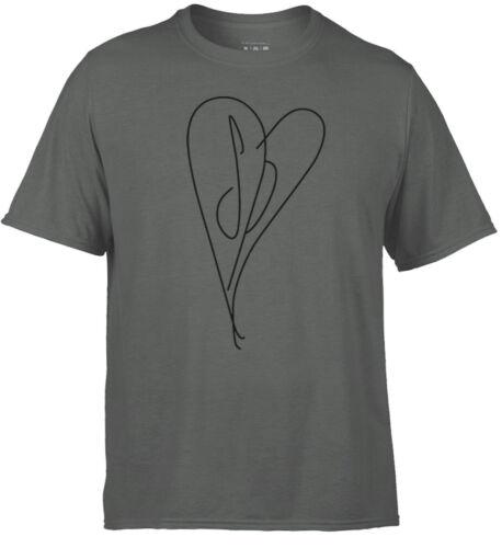 heart T-Shirt Unofficial. Smashing Pumpkins Mens grey soft comfort feel tee