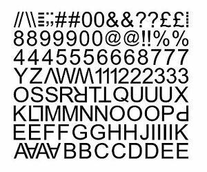 STICKY SELF ADHESIVE VINYL LETTERS AND NUMBERS - Self adhesive vinyl letters
