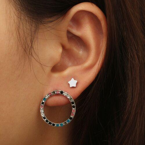 7Pcs//set Retro Women Boho Ear Stud Clip Earrings Bohemian Silver Tone Jewelry