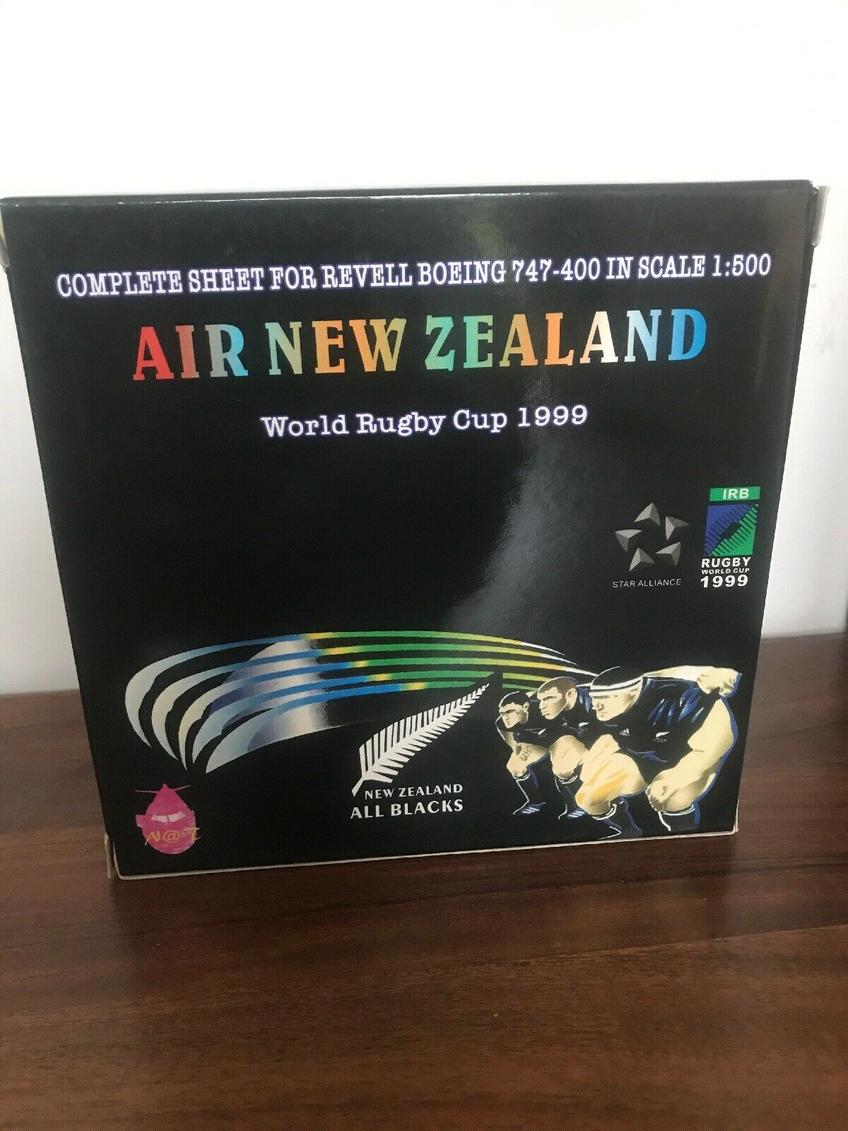 Rare Diecast Model Air New Zealand 747 Workd Cup 1999 Front Row ZX-NBW