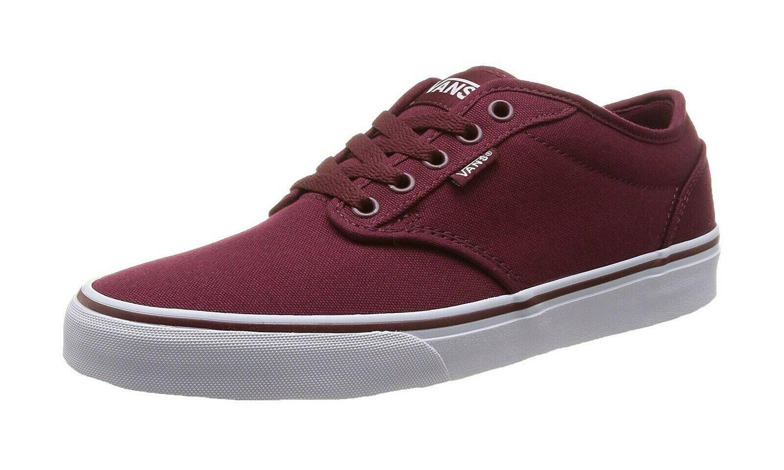 01ef888d44637 Vans Men Shoes Atwood Canvas Sneakers Windsor Wine Burgundy Cardinal Red
