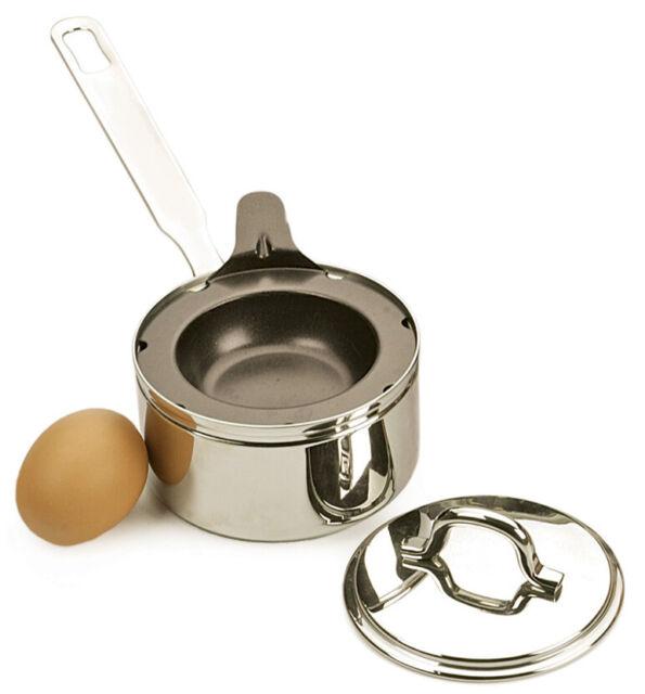 RSVP International Endurance Stainless Steel Poacher,Black /& Silver,1-Egg
