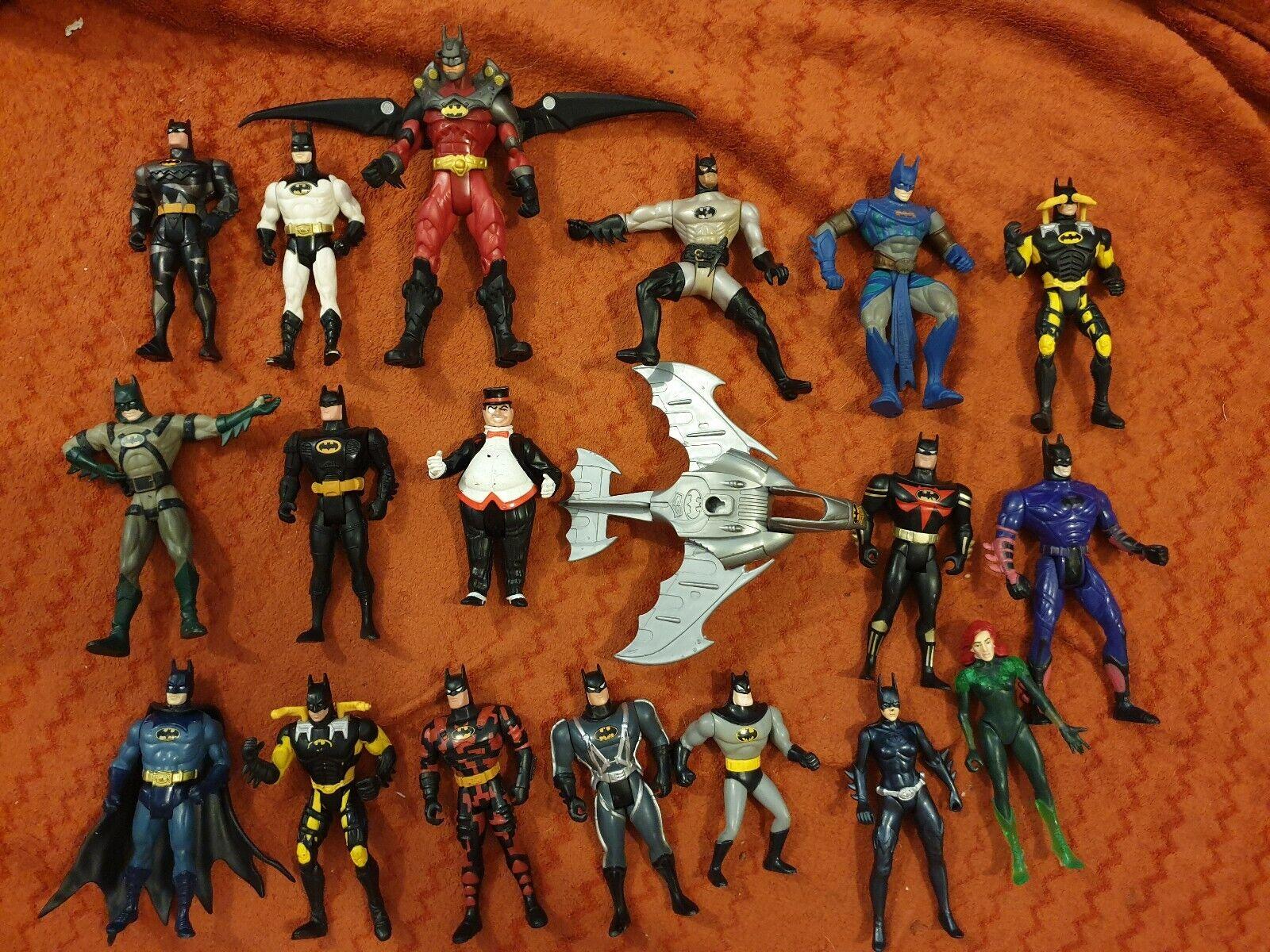 Kenner Batman BatFrau Penguin Poison Ivy 1990+ bundle 18 figures and batwing