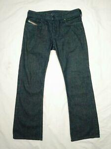 Men-039-S-DIESEL-INDUSTRY-ZANITY-Bootcut-Denim-Jeans-Blu-Scuro-0088Z-Taglia-W28-L32