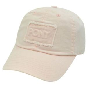 Image is loading PONY-WOMENS-LIGHT-PINK-BASEBALL-HAT-CAP-DISTRESSED 873e28cfd1