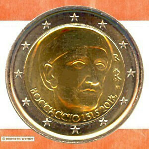Sondermünzen Italien 2 Euro Münze 2013 Boccaccio Sondermünze Zwei