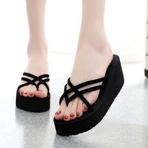 c06e2090a Wholesale Women s Fashion Wedge Platform Thong Flip Flops Slip On ...