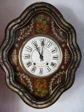 oeil de boeuf superbe décor peint,TBE, horloge,pendule,mouvement,mécanisme n°2