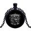 Vintage 3 STOOGES Noir Cabochon Verre Chaîne Collier Sautoir Pendentif