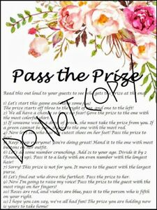 image is loading floral bridal shower pass the prize printable game