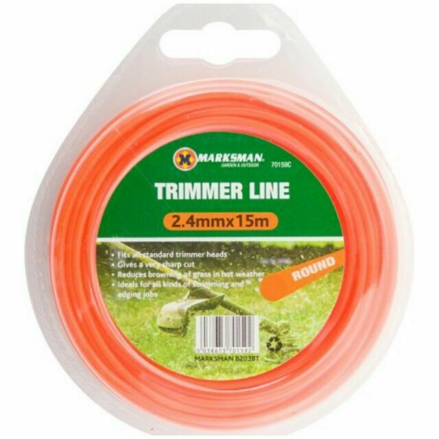 Macallister ALM Grass Trimmer 2.4mm Round Cutting Cutter Line Cable Cord