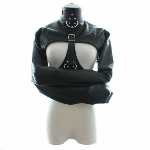 costume party escapology PU quality item Size M Straight jacket open boobs,