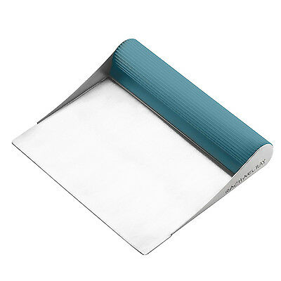 Rachael Ray Tools & Gadgets Cucina Stainless Steel Bench Scrape, Agave Blue