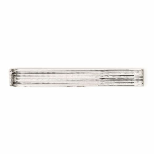 Sterling Silver Textured Tie Bar Clip MSRP $88