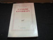Henri GUILLEMIN: L'Enigme Esterhazy