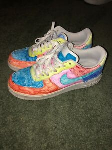 Details about Mens Size 10.5 Nike Air Force Ones Colored Sneakers Pre Owned Used Steal Rare