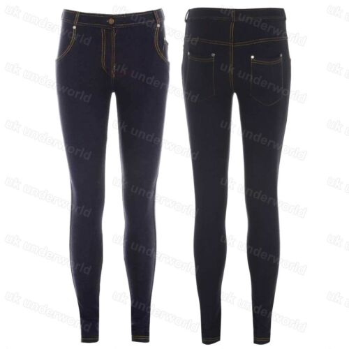 Ladies Skinny Fit Coloured Zipped Jeggings Stretchy Womens Jeans Adults Trousers