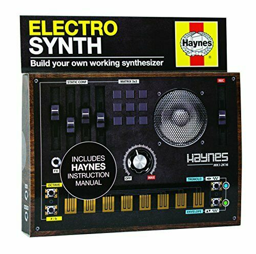 Electro Synth Construction Kit Synthesizer Black DIY