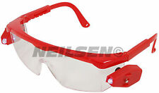 LED Lighted Safety Goggles / Glasses + Spare Batteries - hand free illumination