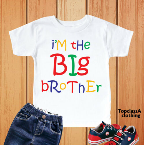 I/'m The Big Brother Kids Boys T-Shirt Funny Kids Baby Grow Brothers Outfits Tee