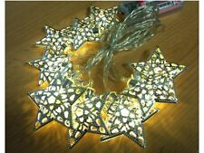 2M LED Stern warm weiße lampen party schnur außen garten girlande