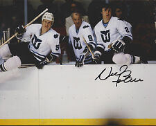 Nick Fotiu Hartford Whalers Auto Signed 8x10 with Gordie and Mark Howe *
