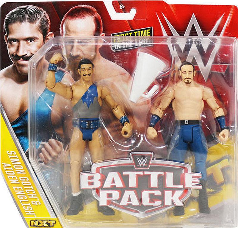 Mattel WWE kämpfen Verpackungs serie 41 The Vaudevillains Wirkung Figures