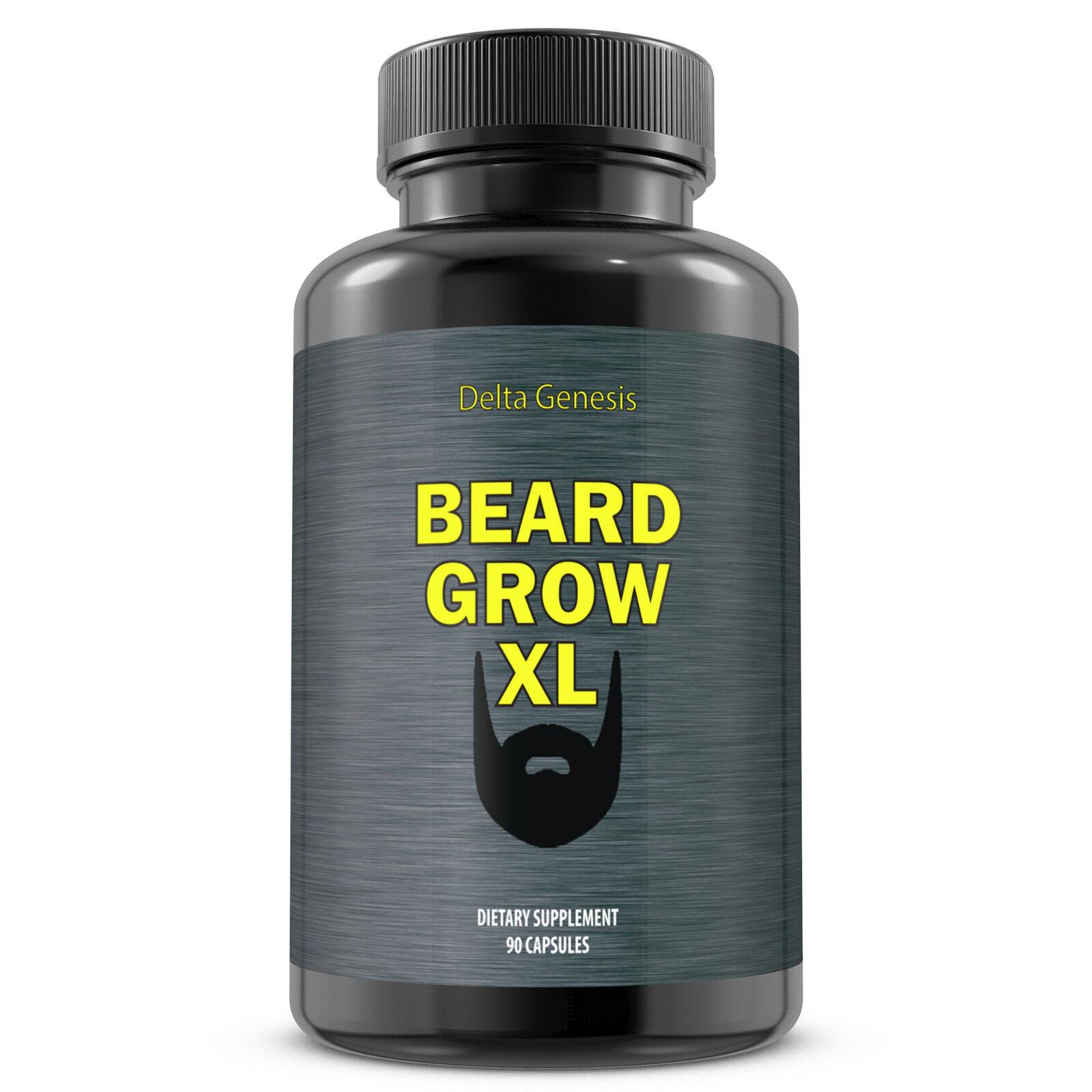 Beard Grow XL   Facial Hair Supplement    1 Mens Face Hair Growth Vitamins