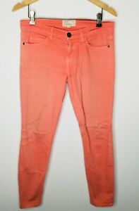 CURRENT-ELLIOTT-Faded-Wagon-Red-Size-26-The-Stiletto-Skinny-Ankle-Jean