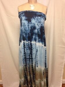 Details about Raviya Plus Size Tie Dye Convertible Dress Blue NWT