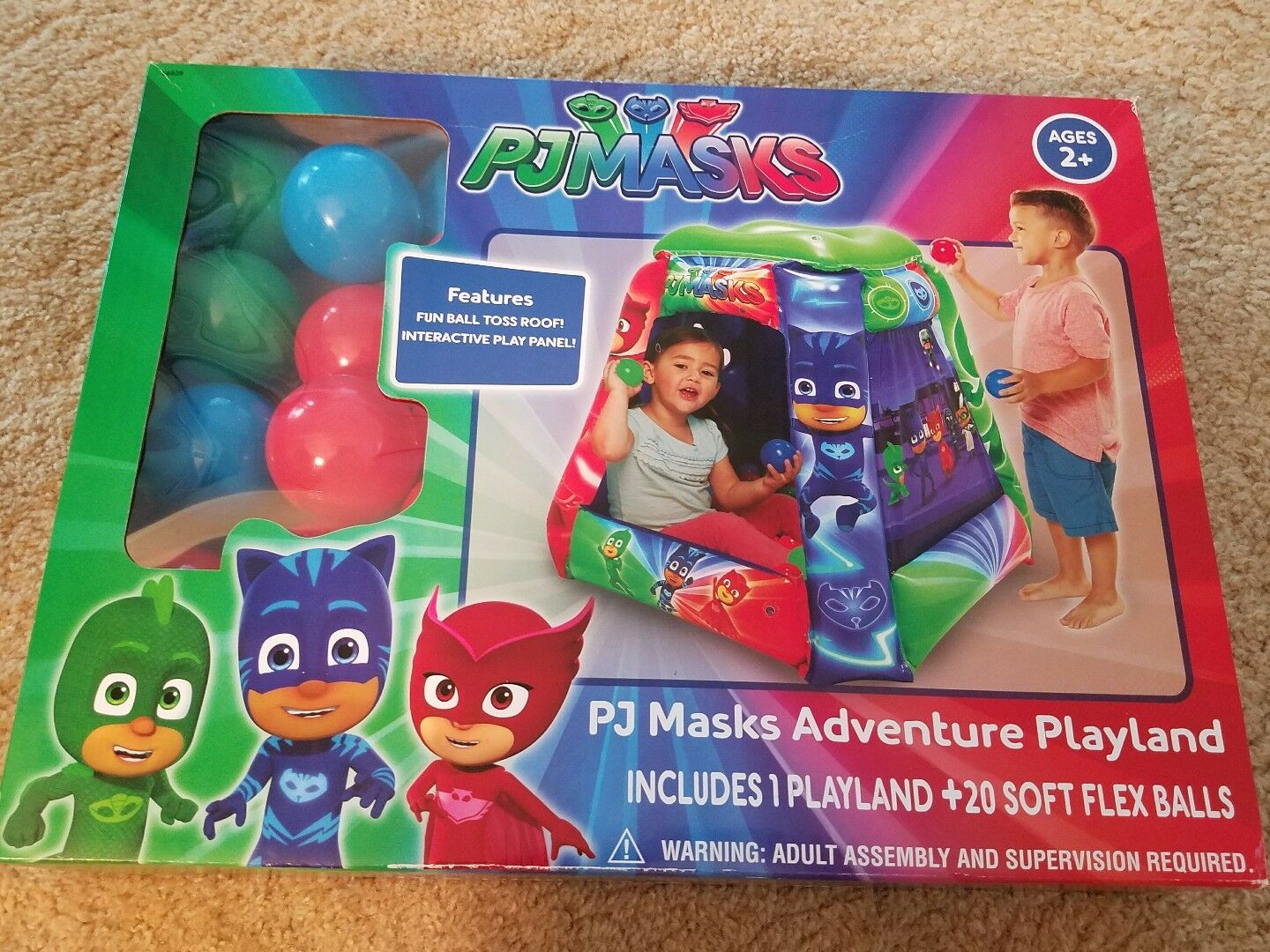 PJ Masks Adventure Adventure Adventure PlayLand Set w 20 Balls,Ball Toss Roof,Interactive Play Panel 3179db