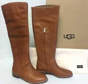 7db74bace7a Details about Ugg Australia Gracen Whipstitch Mid Brown 1019086 Boots  Leather sizes Women's