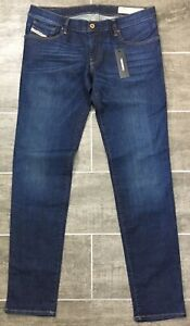 Diesel-Getlegg-Jeans-Slim-Skinny-Low-Waist-Wash-RS004-Blue-Denim-178-NWT