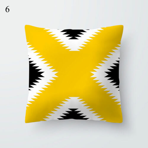 57 Styles Geometry Cushion Covers Pillow Cases Home Sofa Decor Yellow Series