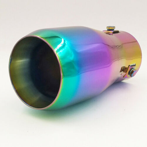 Muffler Tail Exhaust Pipe 66mm Vehicle Chrome Fits For All Cars 6021 Full Color