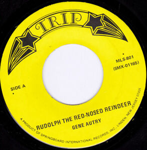 """GENE AUTRY - Rudolph The Red Nosed Reindeer   7"""" 45"""