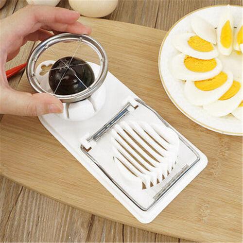 2 in 1 egg slicer mushroom tomato section cutter mold kitchen chopper tool  I