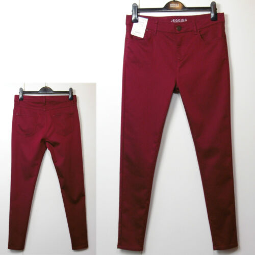 M/&S Supersoft SKINNY Leg JEGGINGS ~ Size 8 Med ~ REDCURRANT