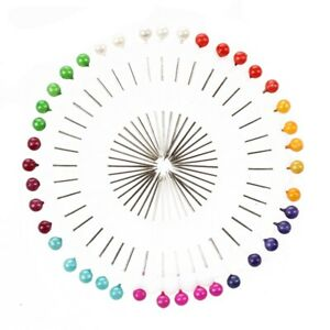 Craft Pin Wheel - 40 Pins - Ball Shaped Pin Heads. Sewing / Quilting Pins. W4W1