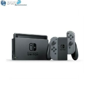 NEUF NINTENDO SWITCH WITH GRIS GRAY JOY‑CON CONSOLE
