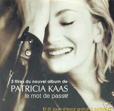 PATRICIA KAAS CDS HORS COMMERCE BELGE LE MOT DE PASSE